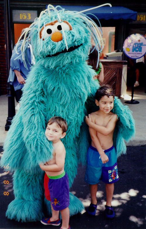My Son Nicholas and his Cousin Matt at Sesame Place
